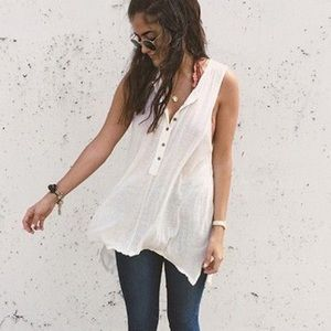 Free People We the Free Union Henley Tank Sz S